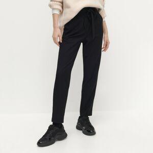 Reserved - Nohavice s elastickým pásom - Čierna