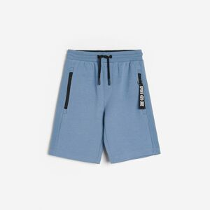 Reserved - Bavlnené šortky s vreckami - Modrá
