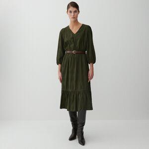 Reserved - Šaty zo štruktúrovanej látky - Zelená
