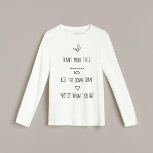 Reserved - Bavlnená košeľa s potlačou - Krémová