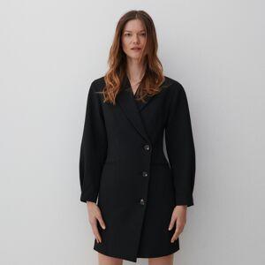Reserved - Šaty vo forme saka - Čierna