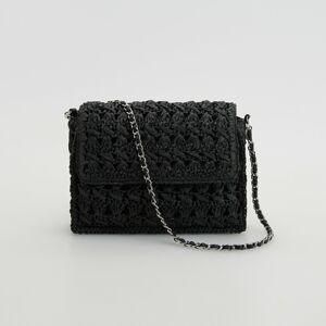 Reserved - Pletená kabelka - Čierna