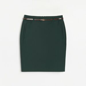 Reserved - LADIES` SKIRT & BELT - Khaki