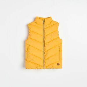 Reserved - Prešívaná vesta so stojačikom - Žltá
