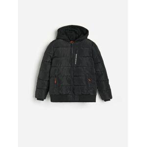 Reserved - Prešívaná bunda s kapucňou - Čierna