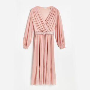 Reserved - Dámske šaty a opasok - Ružová