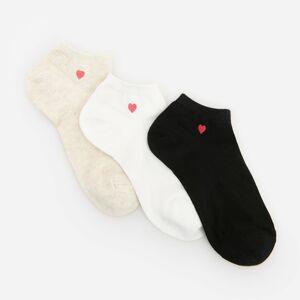 Reserved - Členkové ponožky, 3-Balenie - Krémová