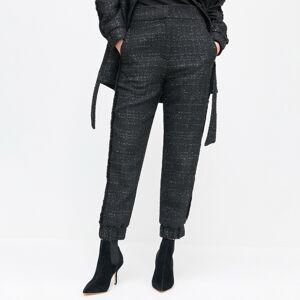 Reserved - Tvídové nohavice - Čierna