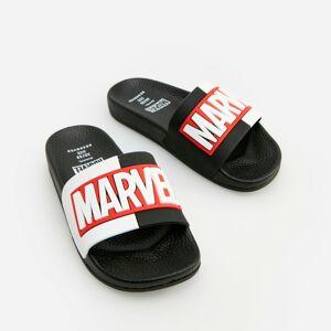 Reserved - Šľapky Marvel - Čierna