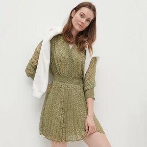 Reserved - Pásikavé šaty - Zelená