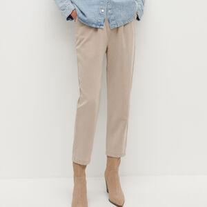 Reserved - Chino nohavice s prímesou materiálu Tencel™ - Béžová