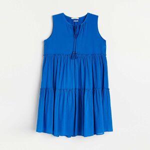 Reserved - Bavlnené šaty - Modrá
