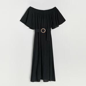 Reserved - Viskózové šaty - Čierna