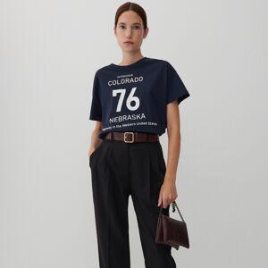 Reserved - Oversize tričko - Tmavomodrá