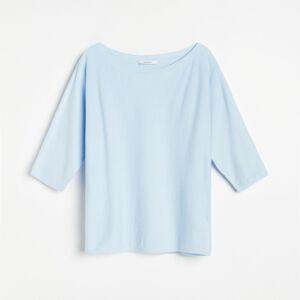 Reserved - Sveter s netopierími rukávmi - Modrá