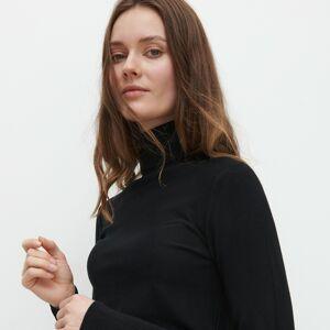 Reserved - Priliehavý rolákový sveter - Čierna