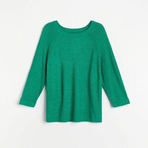 Reserved - Sveter s raglánovými rukávmi - Zelená