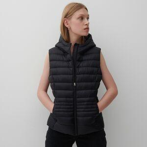 Reserved - Prešívaná vesta s kapucňou - Čierna