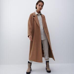 Reserved - Vlnený kabát - Béžová