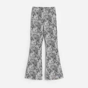 Reserved - Úpletové nohavice so zvieracím vzorom - Viacfarebná