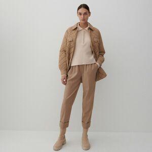 Reserved - Pukové nohavice - Béžová
