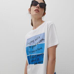 Reserved - Ladies` t-shirt - Biela