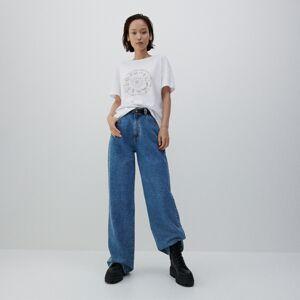 Reserved - Bavlnené tričko - Biela