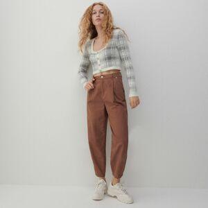 Reserved - Ladies` trousers - Hnědá