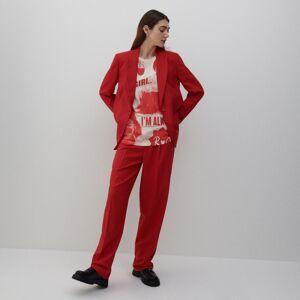 Reserved - Pukové nohavice - Červená