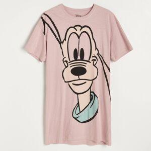 Reserved - Nočná košeľa s potlačou Pluto - Hnědá