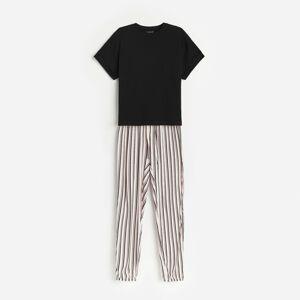 Reserved - Dvojdielne viskózové pyžamo - Čierna