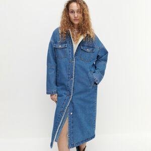 Reserved - Ladies` coat - Modrá
