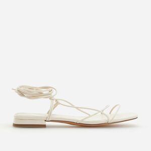 Reserved - Šnurovacie sandále - Biela