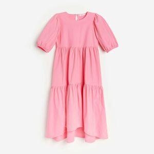 Reserved - Technické úpletové šaty - Ružová