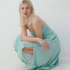 Reserved - Úpletové šaty - Zelená
