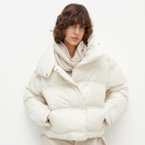 Reserved - Prešívaná bunda s golierom - Krémová