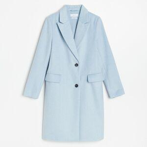 Reserved - Kabát sprímesou vlny - Modrá