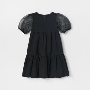 Reserved - Šaty snaberanými rukávmi - Čierna