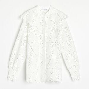 Reserved - Čipkovaná košeľa - Biela