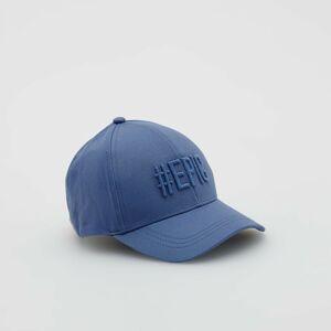 Reserved - Bavlnená šiltovka s vyšitým nápisom - Modrá