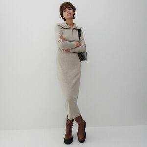 Reserved - Šaty so zipsom - Béžová