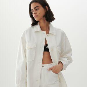 Reserved - Oversize denimová bunda - Biela