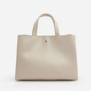 Reserved - Objemná taška s odnímateľným ramienkom - Krémová
