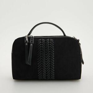 Reserved - Kabelka s ozdobným detailom - Čierna