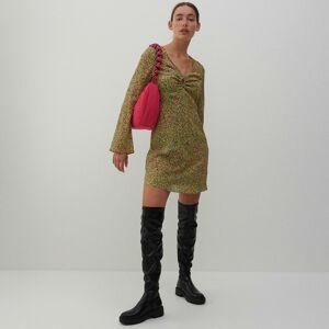 Reserved - Šaty zo žakárovej látky - Viacfarebná
