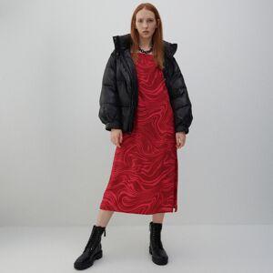 Reserved - Vzorované viskózové šaty - Ružová