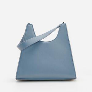 Reserved - Trapézová kabelka cez plece - Modrá