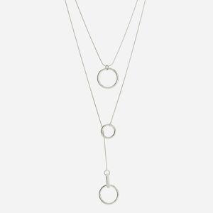 Reserved - Dvojitý náhrdelník s príveskami - Strieborná