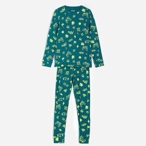 Reserved - Vzorované pyžamo s nohavicami - Khaki