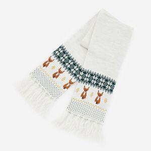 Reserved - Úpletový šál so strapcami - Krémová